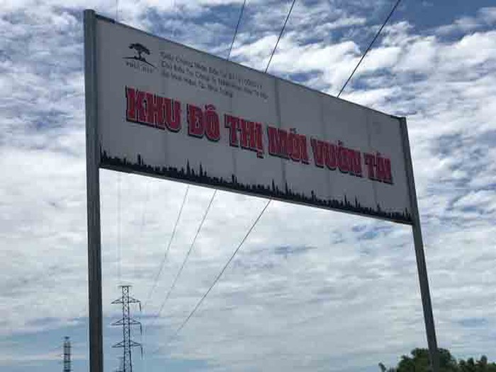 Dự án Khu đô thị mới Vườn Tài, do công ty của ông Trương Văn Quang làm chủ đầu tư đang bị UBND tỉnh Khánh Hòa làm khó? (ảnh CH)