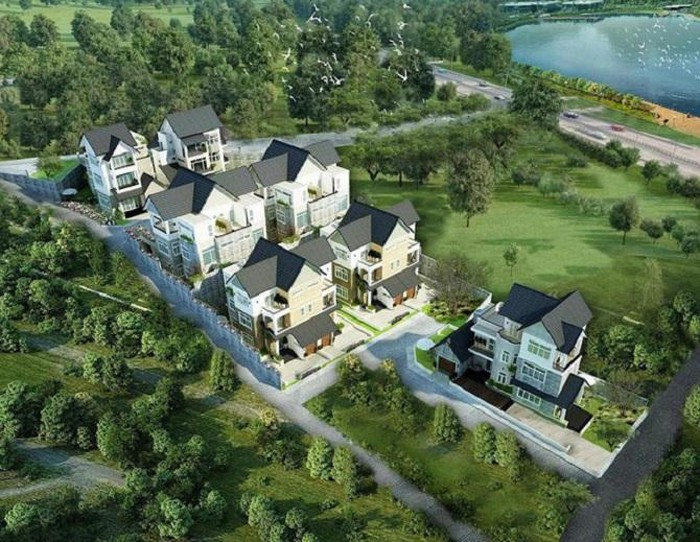 Phối cảnh khu biệt thự thuộc dự án ở Đà Lạt (Ảnh: TL)