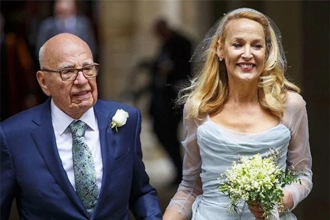 Tỷ phú Rupert Murdoch kết hôn lần thứ 4 ở tuổi 85 với nữ diễn viên Jerry Hall. Ảnh: BI.