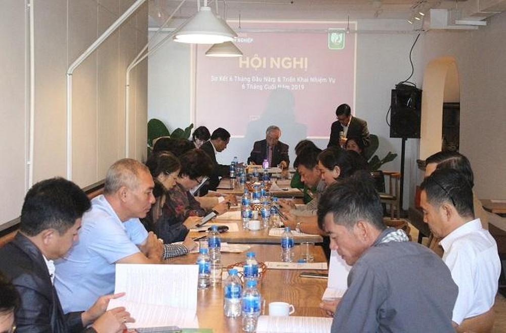 Các đại biểu tham dự Hội nghị theo dõi lắng nghe và góp ý xây dựng phương hướng nhiệm vụ 6 tháng cuối năm 2019 của Hiệp hội (Ảnh: VH)