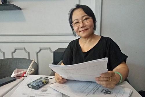 Bà Lê Thị Ham, cán bộ hưu trí, tố cáo cán bộ xã Hựu Thạnh, Đức Hòa, Long An có nghi vấn giả chữ ký của bà và con gái để nhận tiền bồi thường đất (ảnh TM)