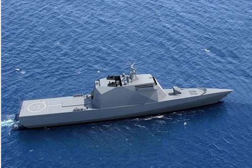 Đồ họa tàu tàu hộ vệ tên lửa tàng hình Derzky - Dự án 20386 của Nga