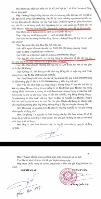 Chứng cứ cho thấy nhóm của Phạm Quốc Hưng đã chiếm đoạt tài sản của ông Phạm Quốc Hùng.