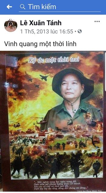 Ông Lê Xuân Tánh tự tạo cho mình một hình ảnh chiến binh anh hùng.