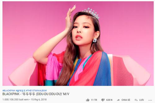 """MV """"DDU DU DDU DU"""" của Black Pink cán mốc 1 tỉ view sau 1 năm rưỡi phát hành."""