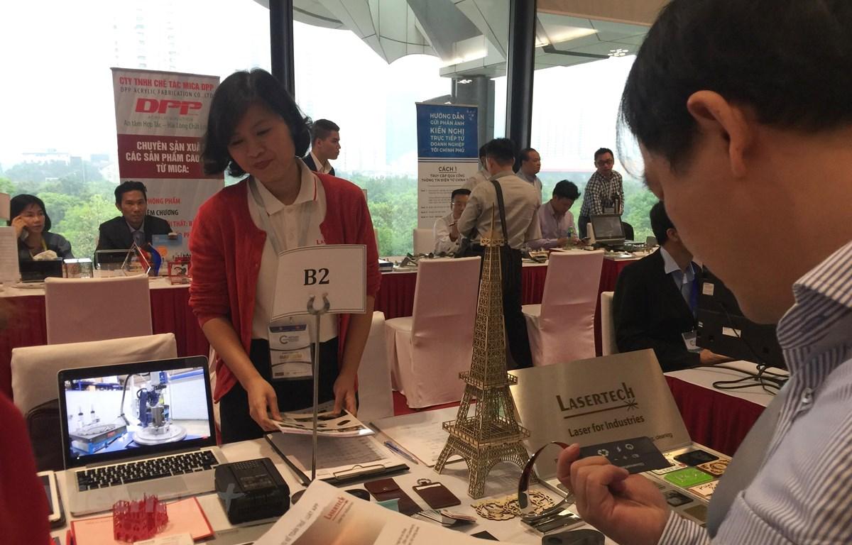 Enterprise connection day at Vietnam Private Economic Forum 2019. Photo: Vietnam +.