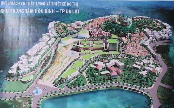 Đồ án quy hoạch mới là quy hoạch khu Trung tâm Hoà Bình chứ không phải quy hoạch toàn bộ thành phố Đà Lạt như một số người hiểu nhầm (Ảnh: TL)