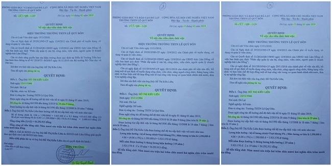 """Sau khi bị kỷ luật, Hiệu trưởng Oanh tiếp tục """"nhắm mắt"""" ký bừa nhiều giấy tờ, văn bản quan trọng (Ảnh: VH)"""