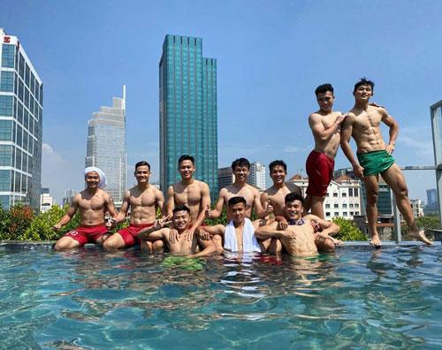 U22 Việt Nam khoe body 6 múi trước ngay lên đường dự SEA Games 30