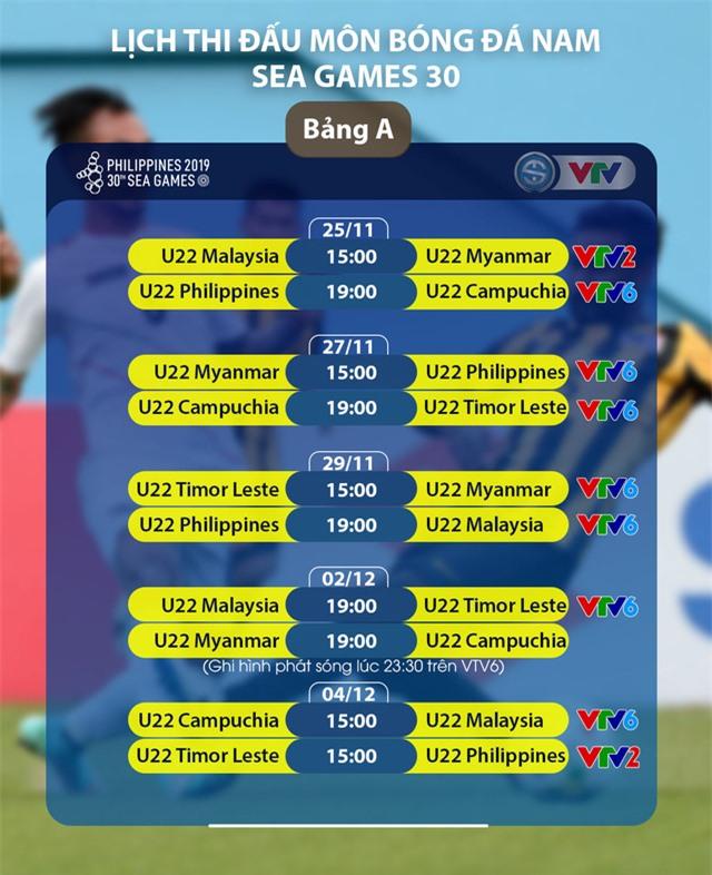 CHÍNH THỨC: Lịch trực tiếp bóng đá nam SEA Games 30 trên VTV - Ảnh 2.