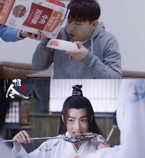 Hai nam diễn viên trẻ Đặng Luân, Tiêu Chiến đã có những trải nghiệm khó quên khi đóng cảnh ăn uống.