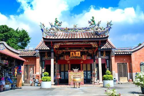 Ngôi đền ở Penang ở Malaysia.