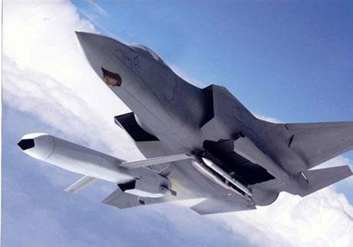 Mô hình F-35 khai hỏa tên lửa JSM.