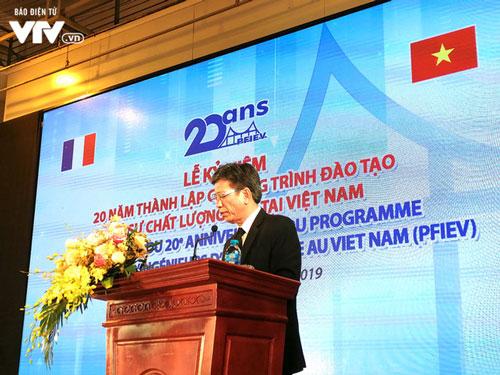PGS.TS Phạm Duy Hòa, Hiệu trưởng Trường Đại học Xây dựng cho hay, bình quân gần 70% sinh viên sau 3–6 tháng tốt nghiệp và gần 100% sau 1 năm tốt nghiệp PFIEV có việc làm hoặc học lên tiếp.