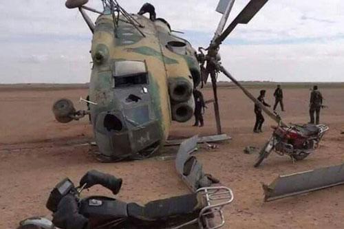 Hãng thông tấn Al Masdar News cho biết, vào hôm 18/11, một trực thăng vận tải đa dụng Mi-8 của không quân Syria đã bị rơi ở vùng ngoại ô tỉnh Hama, không lâu sau khi cất cánh.