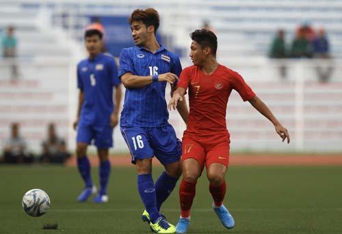 U22 Thái Lan chưa thể có được điểm số đầu tiên ở SEA Games 30. Ảnh: Siamsports.
