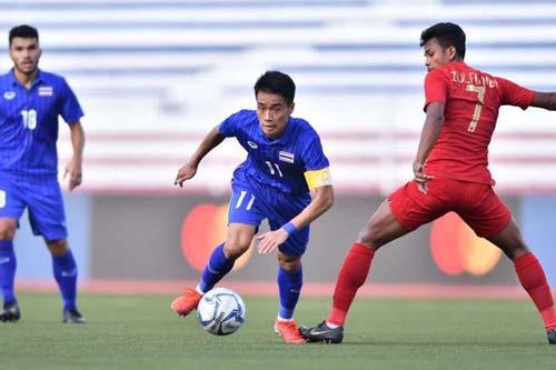 U22 Thái Lan hoàn toàn bất lực trước U22 Indonesia. Ảnh: Goal.