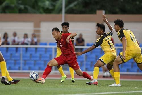 Trọng Hoàng và các trụ cột nhiều khả năng sẽ trở lại trong trận đấu gặp U22 Lào. Ảnh: VFF