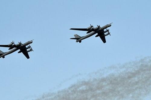 Máy bay ném bom chiến lược Tu-95MS của Không quân Nga. Ảnh: RIA Novosti.