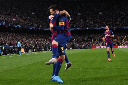 Barca sớm giành vé đi tiếp.