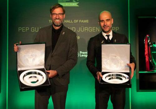 Guardiola và Klopp được vinh danh trong bảng vàng của Hiệp hội HLV nước Anh