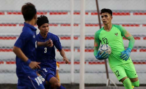 Thủ môn của U22 Indonesia giữ sạch lưới cả 2 trận đã qua. Ảnh: Interner.