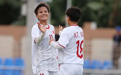 Tuyển nữ Việt Nam đã chắc vé vào vòng bán kết SEA Games 30. Ảnh: VFF.