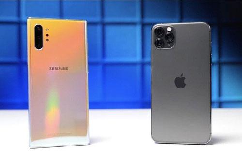 Galaxy Note 10 và iPhone 11 Pro.