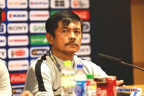 Ông Indra Sjafri HLV trưởng đội U22 Indonesia.
