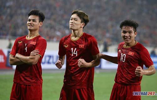 Bàn thắng của Hoàng Đức là hệ quả từ lối chơi tấn công đa dạng của U22 Việt Nam.