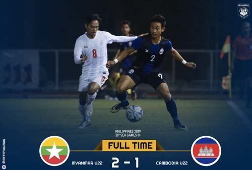 U22 myanmar là đội đầu tiên vào bán kết SEA Games 30.