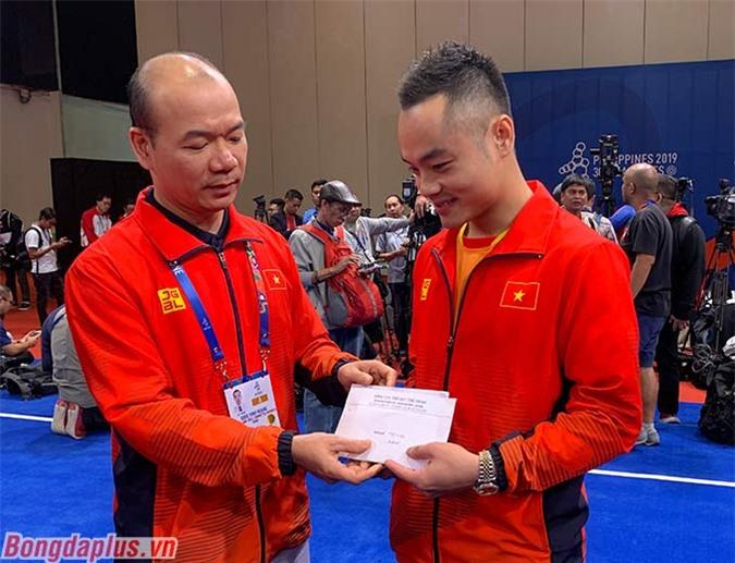 Quốc Khánh được Đoàn Thể thao Việt Nam thưởng nóng