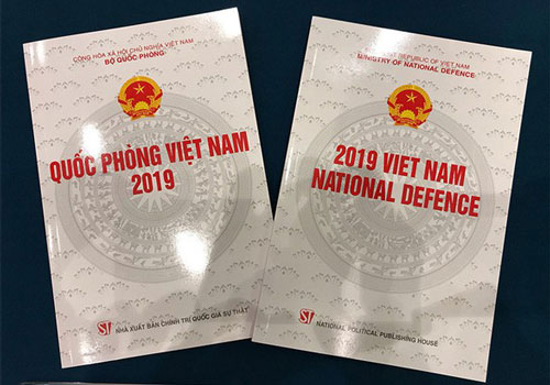 """Sách trắng Quốc phòng Việt Nam 2019 vừa được Việt Nam công bố hôm 25/11 vừa rồi. Đây là lần thứ tư trong lịch sử Việt Nam công bố Sách trắng Quốc phòng và lần này, chúng ta đã nhấn mạnh quan điểm """"bốn không"""" của Đảng và Nhà Nước. Nguồn ảnh: C.G."""