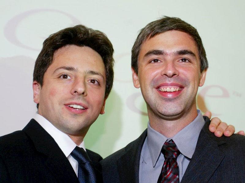 Sergey Brin (trái) và Larry Page. Ảnh: Internet