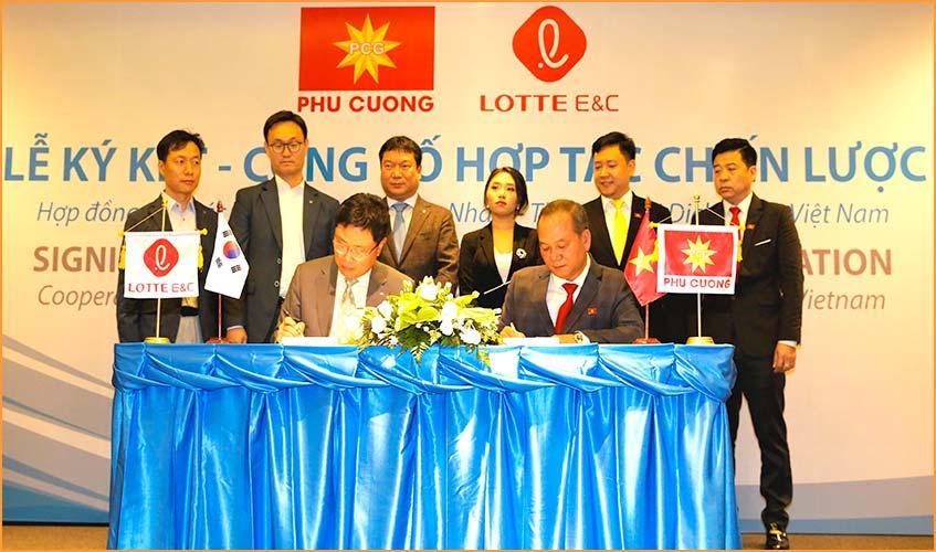 Lễ ký kết hợp tác giữa Phú Cường và Lotte E&C