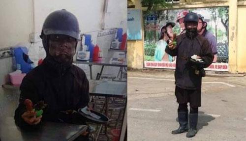 Công an Hà Nội xác minh vụ người hành khất mặc đồ đen có hành tung bí ẩn