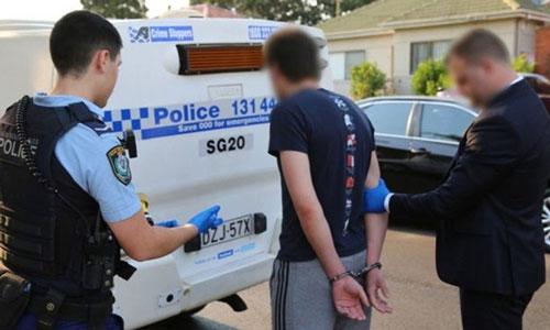 Nghi phạm 21 tuổi bị cảnh sát bắt tại Sydney, bang New South Wales, Australia. (Ảnh: Cảnh sát New South Wales)