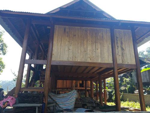 Nhà nạn nhân Xiến ở xã Nậm Nhoóng.