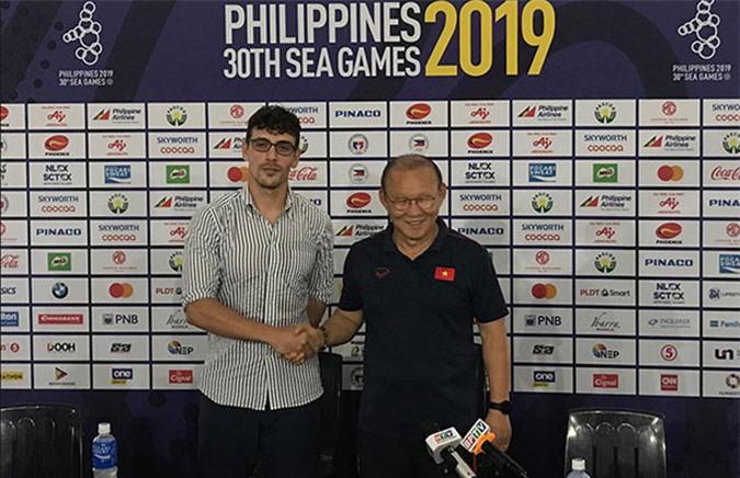 HLV Park Hang Seo lường trước trận đấu khó khăn khi gặp Campuchia ở bán kết SEA Games - Ảnh: Đức Cường