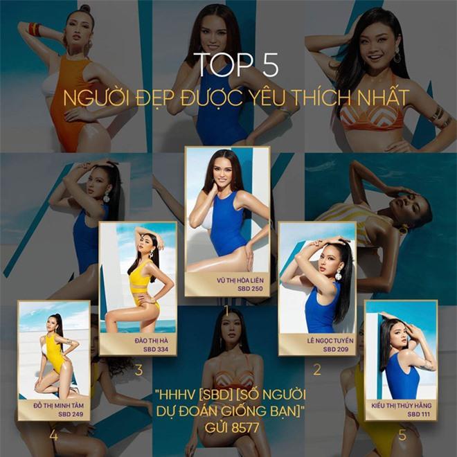 Trước thềm chung kết, Miss Universe Việt Nam công bố top 5 người đẹp được yêu thích nhất: Thuý Vân, Tường Linh bỗng dưng mất hút? - Ảnh 1.