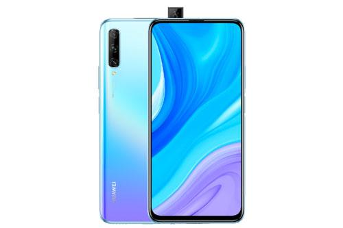 Huawei Y9s sở hữu thiết kế với vỏ ngoài bằng nhựa giả kính. Máy có kích thước 163,1x77,2x8,8 mm, cân nặng 206 g.