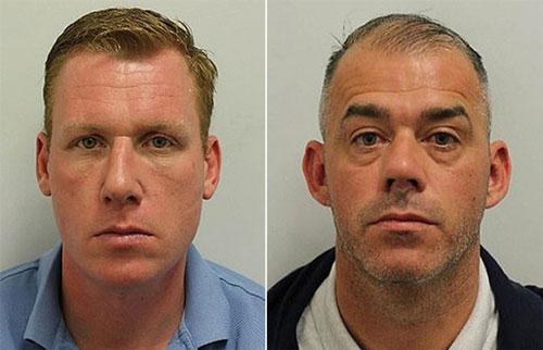Hai nghi phạm Christian King (tráI) và Henry Dunn. (Ảnh: Cảnh sát London)