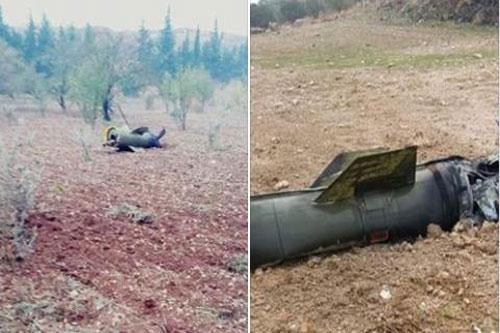 Phần thân của tên lửa Tochka được tìm thấy tại Idlib.