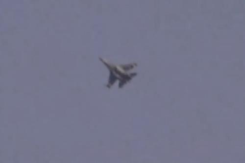 Tiêm kích Su-35 của Nga được báo cáo đã cất cánh đánh chặn chiến đấu cơ Israel. Ảnh: Avia.pro.