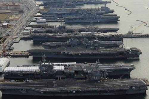 Nhiều tàu sân bay của Mỹ đang không thể hoạt động