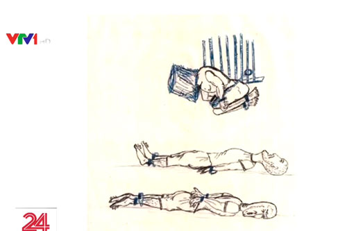 Hình ảnh mô phỏng tra tấn tù nhân gây tranh cãi tại Mỹ.