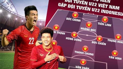 Đội hình dự kiến của U22 Việt Nam gặp U22 Indonesia.