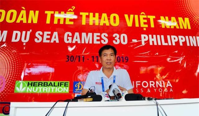 """Trưởng đoàn Trần Đức Phấn: """"Cả nước chờ đợi tấm HCV SEA Games của U22 Việt Nam"""" - 1"""