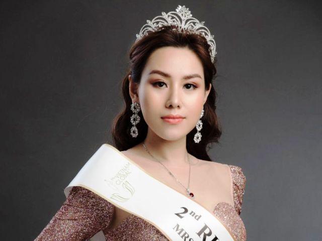"""Người đẹp Thúy Hằng đăng quang Á hậu 2 tại cuộc thi """"Hoa hậu Quý bà Việt Nam toàn cầu"""""""