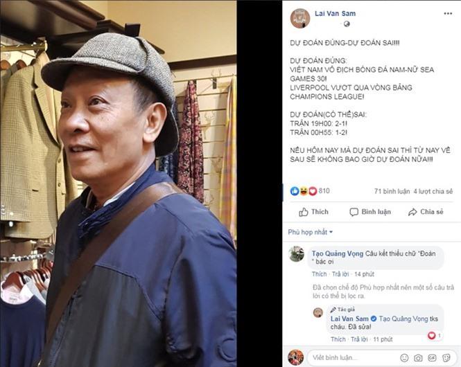 MC Lại Văn Sâm tuyên bố 'sốc' trước trận quyết đấu U22 Việt Nam vs U22 Indonesia - ảnh 1